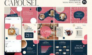 Coffee Shop - Carousel Template Instagram ZSKEMUM