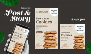 Cookies Instagram Post Story 4TKE499