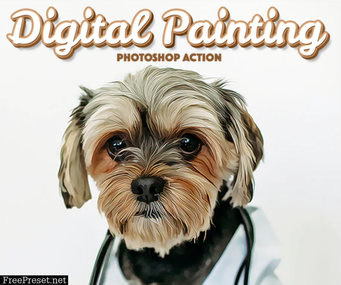Digital Painting Photoshop Action 30333660