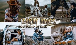 Earth Tones Photoshop Actions 5D6X45F