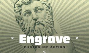 Engrave Photoshop Action Kit - & Duotone FX GLTNRVG