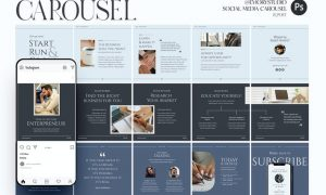 Entreprenuer - Carousel Templates Instagram YCR3HDS