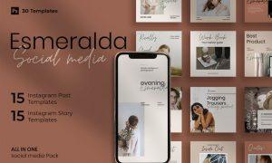 Esmeralda - 30 Instagram Post & Story Template JN6PVE7