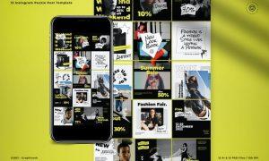 Fashion Retro 60s Puzzle Instagram Puzzle CFA962D