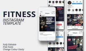 Fitness Instagram Template WG2HZT3