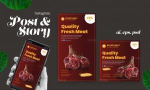 Fresh Meat Instagram Post Story 967K664
