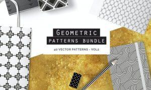 Geometric Seamless Patterns Bundle P5QM7K