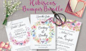 Hibiscus Bundle: Pastel Handpainted Watercolors  UHSBBWV