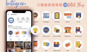 Instagram Highlight Icon V05 Retail Online Shop AUCWYF9