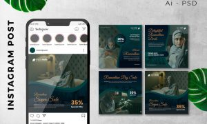 Instagram Post Ramadan Sale Marketing Promotion 56YDTTP