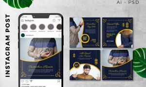 Instagram Post Ramadan Sale Marketing Promotion 6TCBR2R