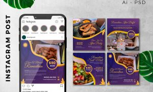 Instagram Post Ramadan Sale Marketing Promotion AN82V62