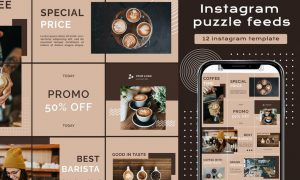 Instagram Puzzle - Cafe grand opening WH6Q9Z4