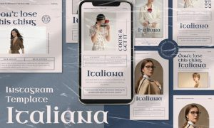 Italiana Instagram Template Vol.2 6H5TXSJ