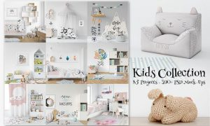 Kids Collection: 85 Projects, 390+ PSD Mock-Ups