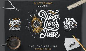 Lettering Motivational Quotes SVG Bundle HK763K