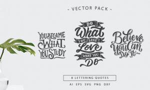 Lettering Motivational Quotes SVG Bundle Vol 2 QUFXHV