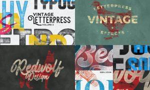 Letterpress & Screenprint Texture Effects Vol.3 6K5JWYS