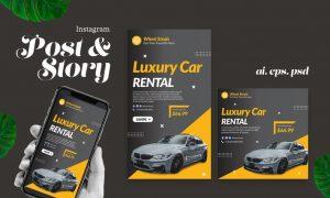 Luxury Car Automotive Instagram Post Story Y324WN5