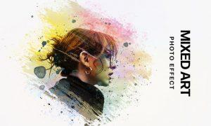 Mixed Art: Watercolor Photo Effect