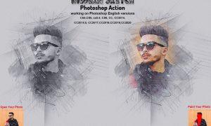 Modern Sketch Photoshop Action 5873477