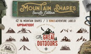 Mountain Shapes Bundle & Vintage Labels PZN3W3