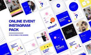 Online Event Instagram Pack KWZK82F