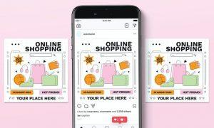 Online Shopping Instagram Post 83BEBLW