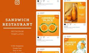 Orange Place Store's Instagram Template GPW3XFC