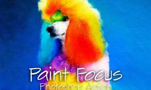Paint Focus Photoshop Action 5928190