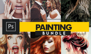 Painting Photoshop Actions Bundle 28379976