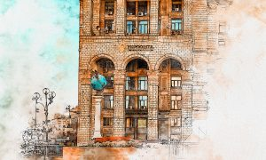 Pen & Watercolor Photoshop Action 24939218