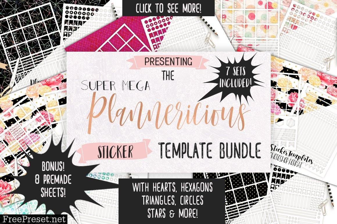 Planner Sticker Template Big Bundle 1350702