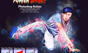 Power Effect Photoshop Action 5927557