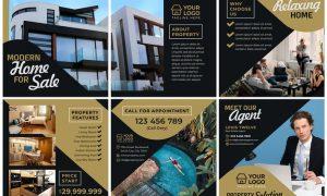 Real Estate #01 Instagram Feeds Pack CVNPGTM