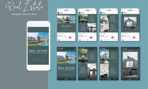 Real Estate Instagram Post & Story P2ZYJ2W