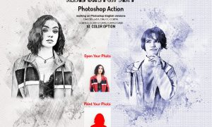 Real Sketch Art Photoshop Action 5990338