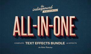 Retro Text Effects Complete Bundle 3956949