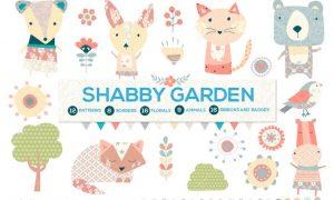 Shabby Chic Garden Bundle 8REDHY