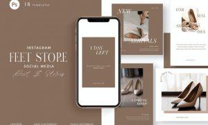Shoes Store Instagram Pack - Social Media DCKH78T
