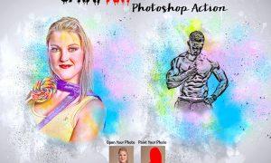 Spray Art Photoshop Action 5988838