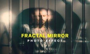 Strip Fractal Mirror Photo Effect