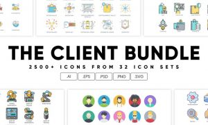The Client Bundle 2,500+ Icons NRVVEE