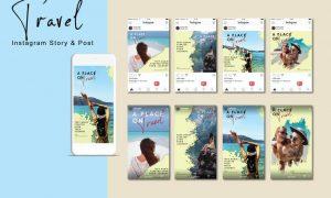 Travel Instagram Post & Story YA7MRHL