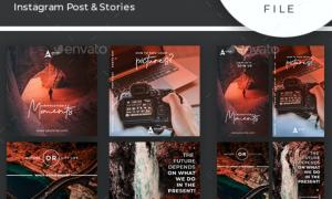 Travel Instagram Post & Stories Bundle 24374518
