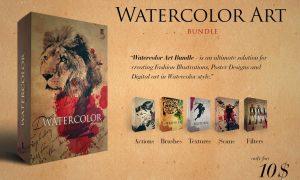 Watercolor Art Master Bundle 3490933
