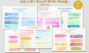 Watercolor Brush Stroke Bundle 664929