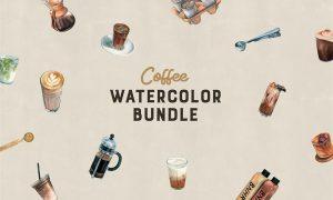 Watercolor Coffee Bundle 2405258