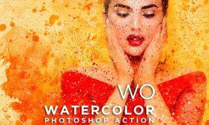 WO Watercolor Photoshop Action XDFBSQQ
