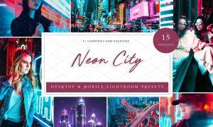 15 x Lightroom Presets, Neon City 5962657